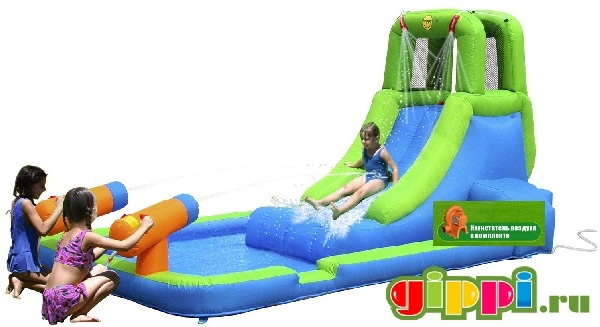 Надувной батут Water Slide With Pool and Cannons 9040