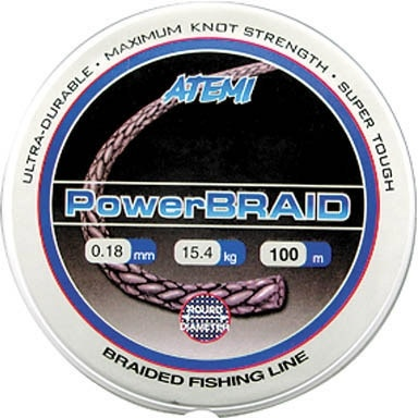 309-02125 Леска плетеная ATEMI Power Braid 100м 0,125мм