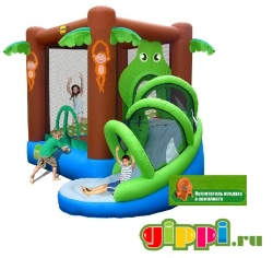 Надувной батут Crocodile Airflow Bouncy Castle With Silde 9113