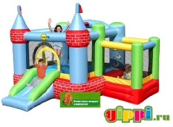 Надувной батут Castle Bouncer With Farmyard Ballpit 9112