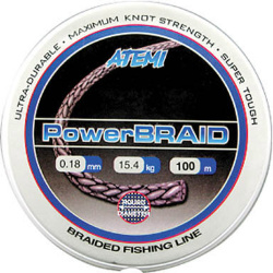 309-02135 Леска плетеная ATEMI Power Braid 100м 0,135мм