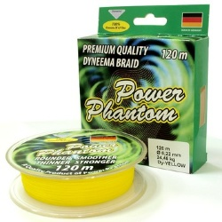 Шнур Power Phantom yellow 120м 0.10mm 9.15kg